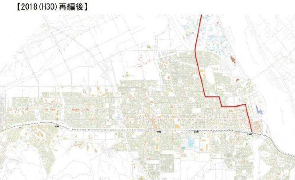 札江線(経路変更後)
