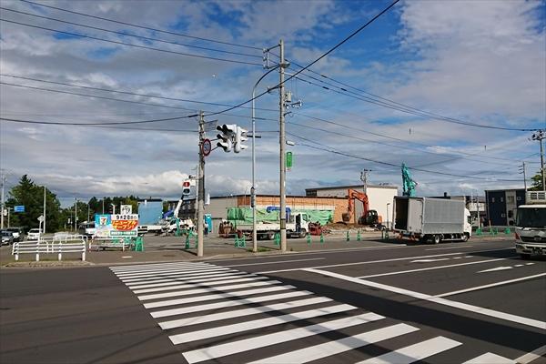 きらら街道と江別恵庭線の交差点