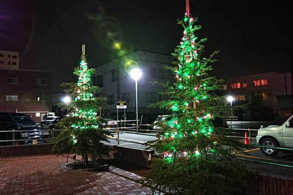 野幌駅前ライトアップイルミネーション