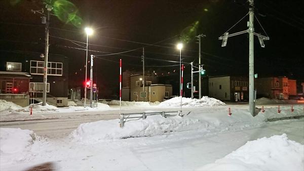 野幌駅南通・白樺通・信号機設置