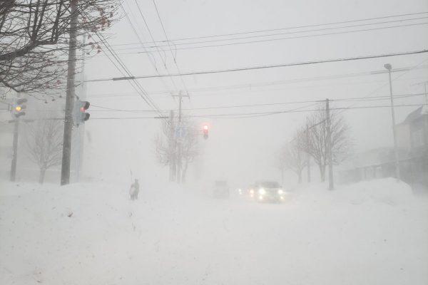 1月21日強風大雪(北海道江別市の状況)