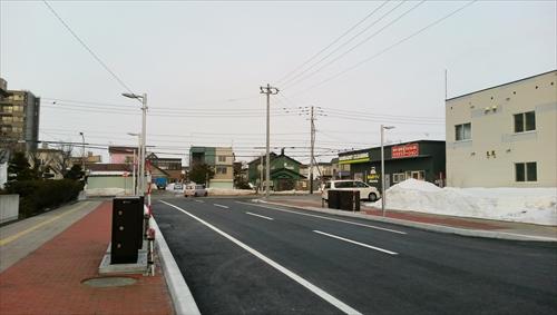野幌駅南通、東側を見る