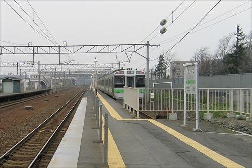 江別駅構内図