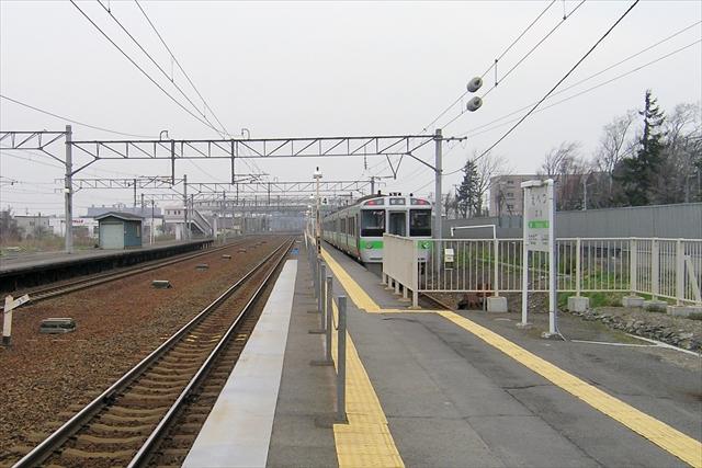 江別駅ホーム4番線