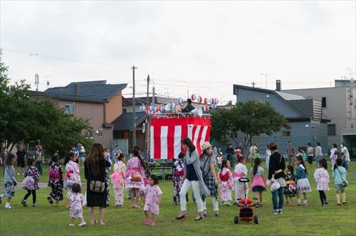 野幌若葉町盆踊りのやぐら
