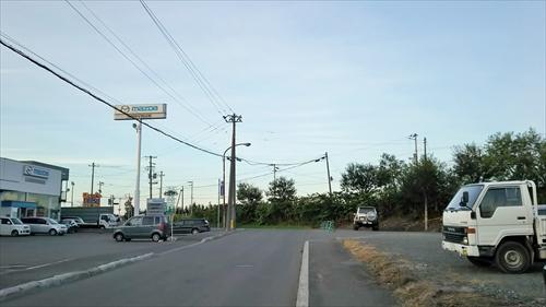 国道へ通じる道