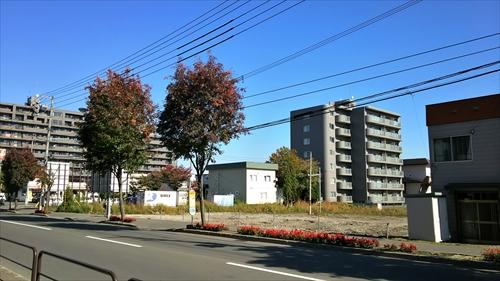 野幌駅南口駅前工事中