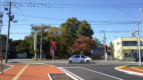 国道12号と野幌グリーンモール