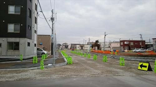 8丁目通りから白樺通への新設道路