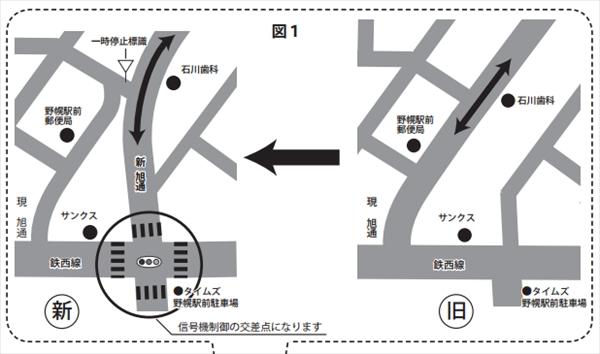 新旧旭通り地図