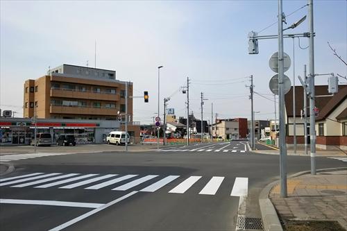 旭通り鉄西線の交差点