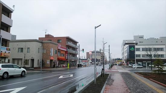 野幌駅北口駅前・鉄西線東方向