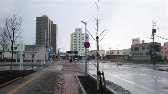 野幌駅北口駅前・鉄西線西方向