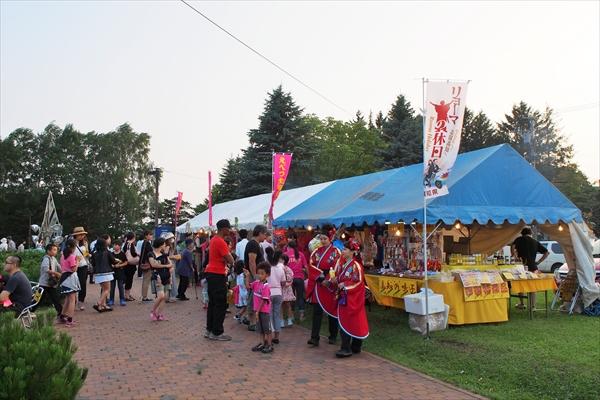 かわなか公園会場屋台出店(えべつ北海鳴子祭り2016)