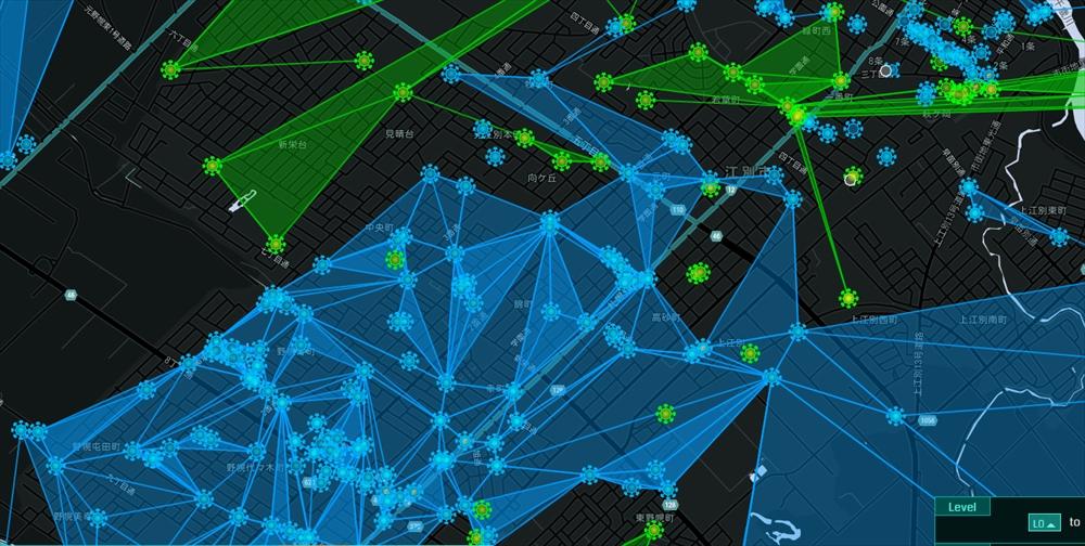 江別市のポケストップの場所地図