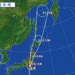 台風9号(2016年8月22日)