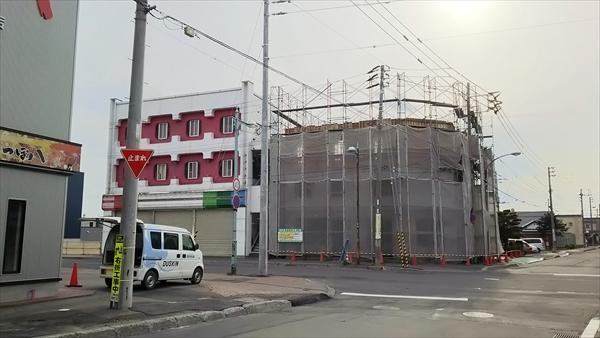 8丁目通り商店街ビル新築工事