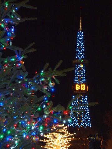 札幌大通公園ホワイトイルミネーション・テレビ塔