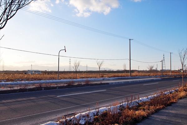 道道626号東雁来江別線と空地