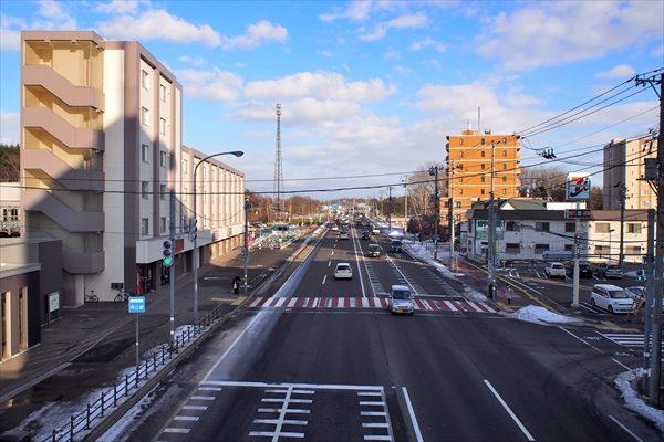 大麻駅南口駅前・国道12号線・野幌方面