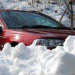 雪道ドライブ