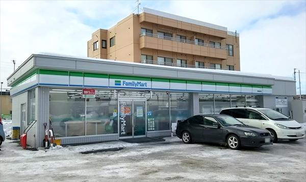ファミリーマート野幌駅前店・店舗外観