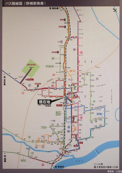 江別市内バス路線図