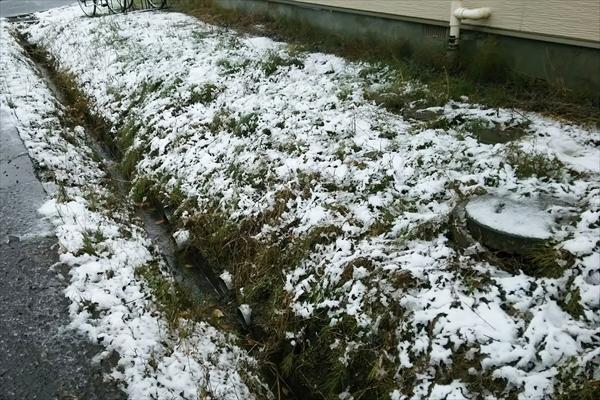 2017年・江別市内初雪