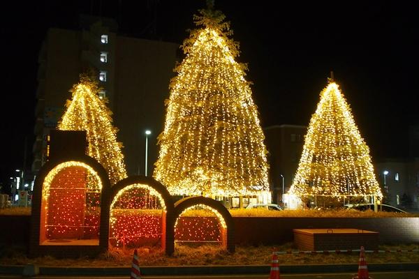 野幌駅前ライトアップ