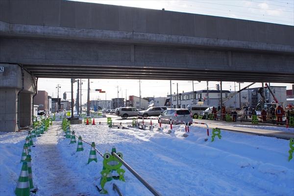白樺通と鉄東線の交差点