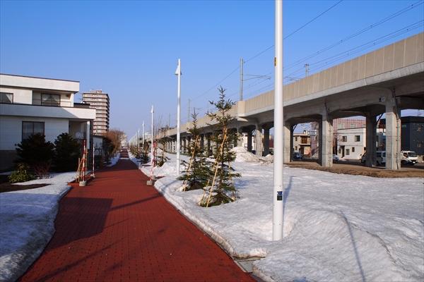 函館本線北側遊歩道