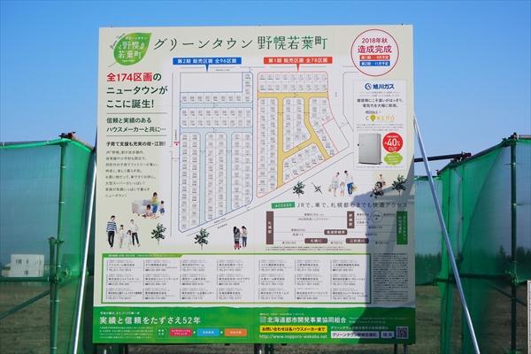 グリーンタウン野幌若葉町・案内看板