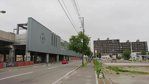 野幌駅南口と鉄東線