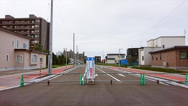 野幌駅南通り延長部分