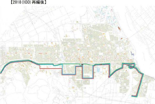 札幌線・経路変更