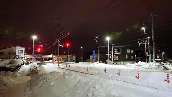 白樺通×野幌駅南通交差点信号機設置
