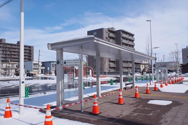 野幌駅南口バス停