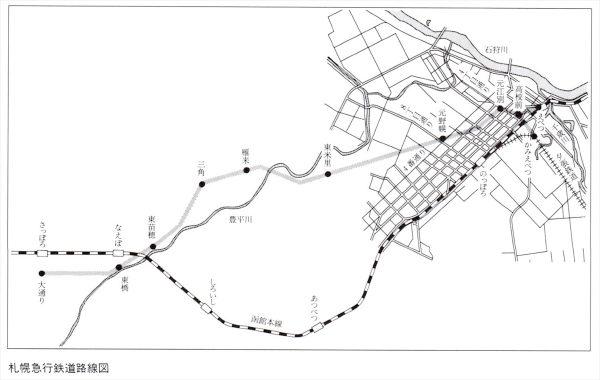 札幌急行鉄道路線図