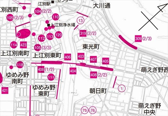 南大通大橋の地図