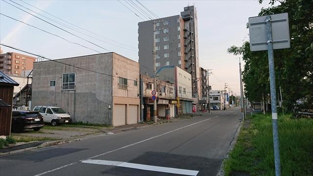江別市5条4丁目の道路
