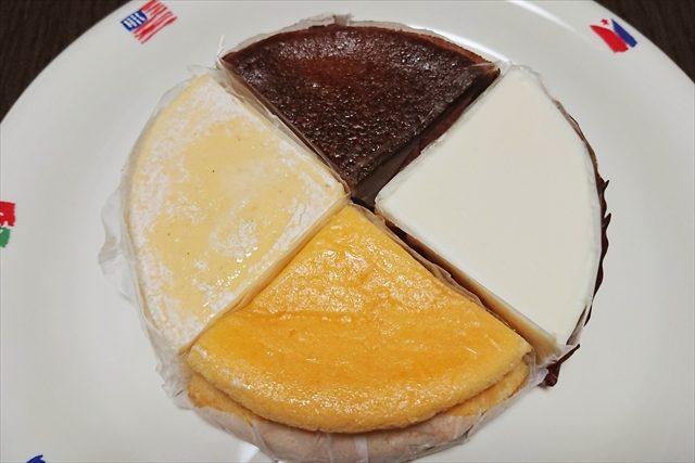 4種のアソートチーズケーキ