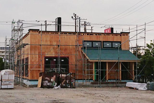 ジョリーパスタ江別店新店舗の建物