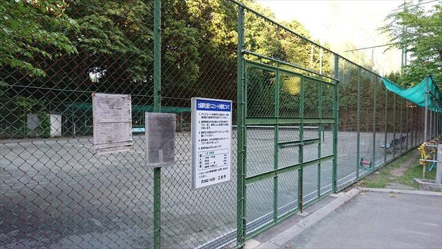 テニスコート場