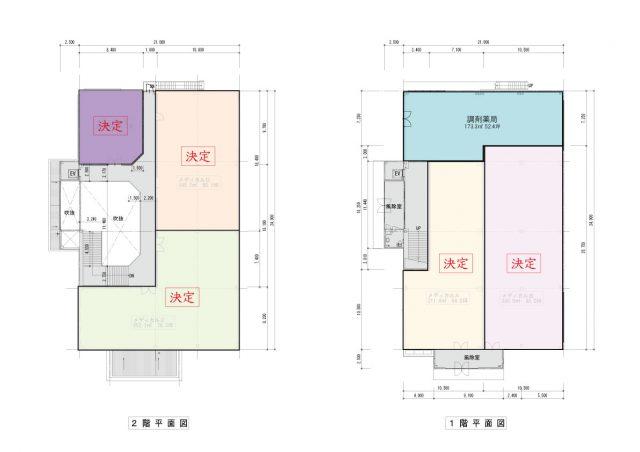 札幌市厚別ひばりが丘メディカルビル入居店舗図
