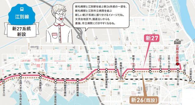 江別線・新27系統新設