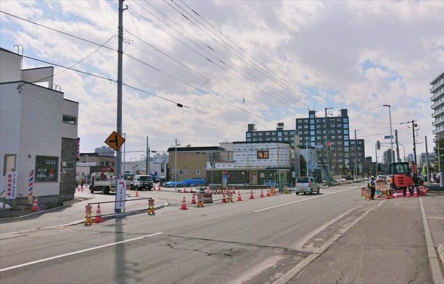 鉄東線・野幌駅南通交差点