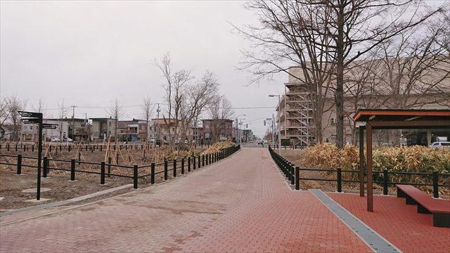 イオン江別店方向