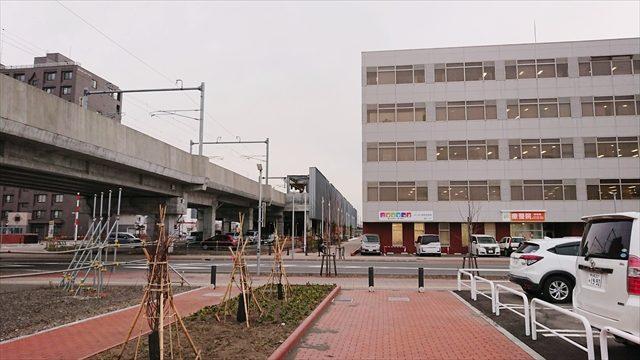東西グリーンモールと野幌駅