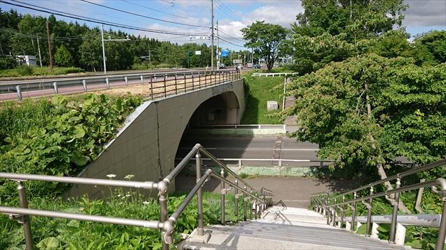 文京台アンダーパス階段