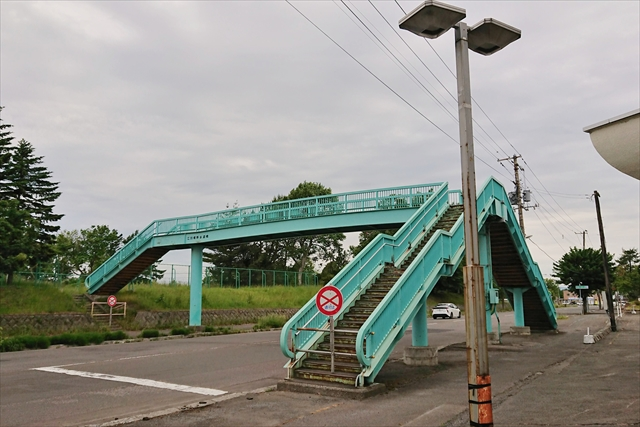 江別小学校前・歩道橋